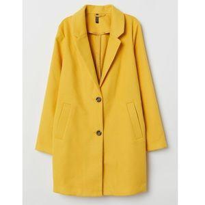 H&M yellow coat